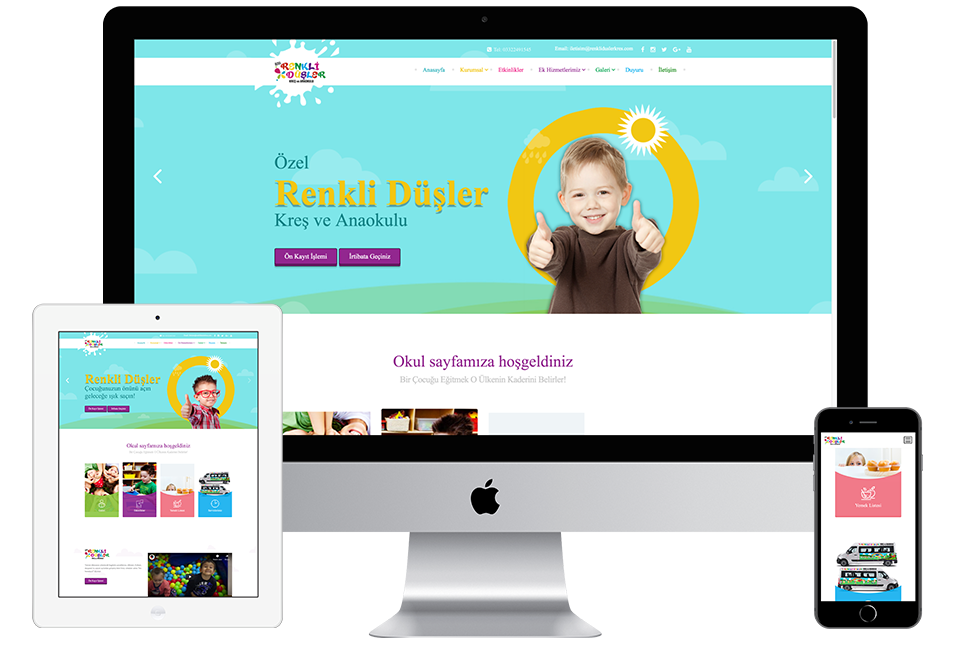Nourkas Web Portfolio Renkli Düşler Kreş Website
