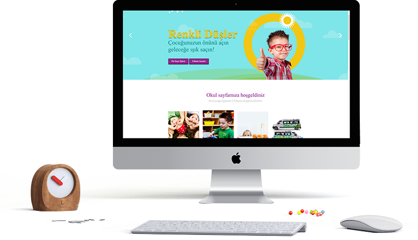 Renkli Düşler Kreş Website