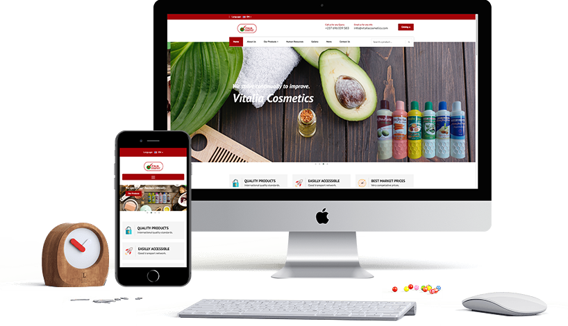 Vitalia Cosmetics Website